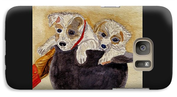 Galaxy Case featuring the painting Trump And Tillie by Angela Davies