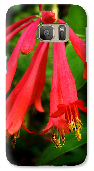 Galaxy Case featuring the photograph Wild Trumpet Honeysuckle by William Tanneberger