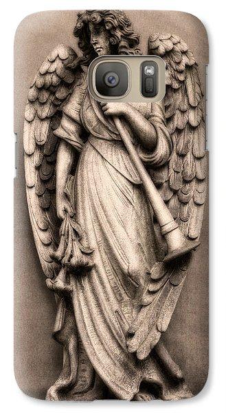 Trumpet Galaxy S7 Case - Trumpeter Angel by Tom Mc Nemar