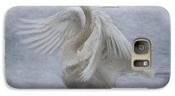 Galaxy Case featuring the photograph Trumpeter Swan - Misty Display by Patti Deters