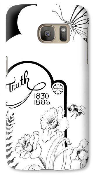 Galaxy Case featuring the digital art Truth Time by Carol Jacobs