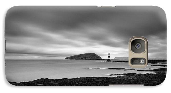 Puffin Galaxy S7 Case - Trwyn Du Lighthouse 1 by Dave Bowman