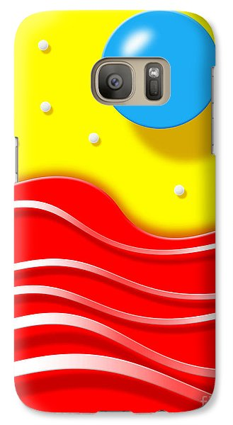 Galaxy Case featuring the digital art Tsunami by Cristophers Dream Artistry