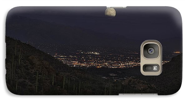 Galaxy Case featuring the photograph Tucson At Dusk by Lynn Geoffroy