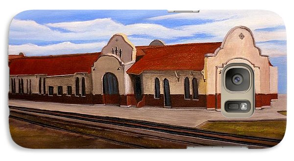 Galaxy Case featuring the painting Tucumcari Train Depot by Sheri Keith