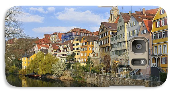 Tuebingen Neckarfront With Beautiful Old Houses Galaxy S7 Case by Matthias Hauser