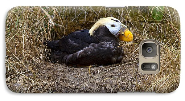 Puffin Galaxy S7 Case - Tufted Puffin by Mike  Dawson
