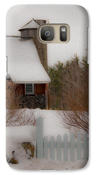 Galaxy Case featuring the photograph Tuftonboro Farm In Snow by Brenda Jacobs