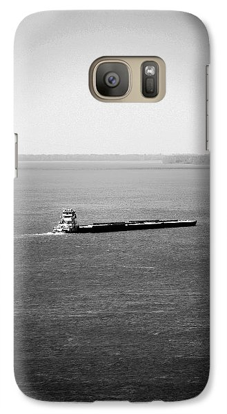 Galaxy Case featuring the photograph Tug Boating Up The Mississippi River by Max Mullins