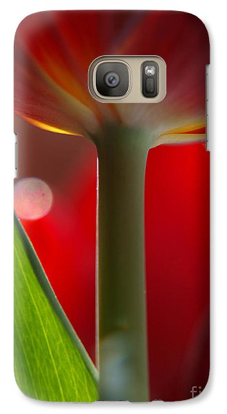 Galaxy Case featuring the photograph Tulip Bokeh by Trena Mara