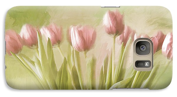 Galaxy Case featuring the painting Tulip Bouquet by Linda Blair
