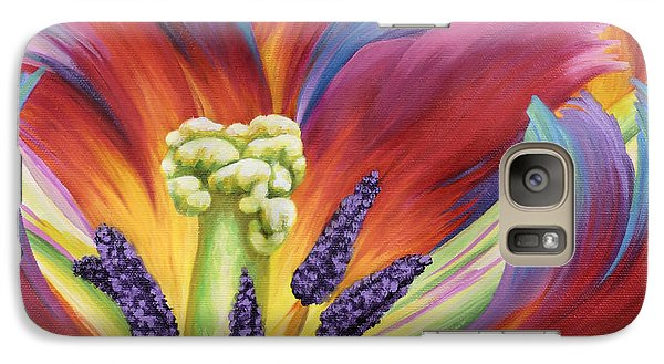 Galaxy Case featuring the painting Tulip Color Study by Jane Girardot
