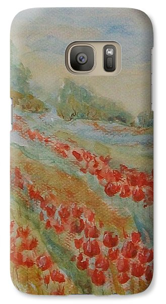 Galaxy Case featuring the painting Tulip Field by Jane  See
