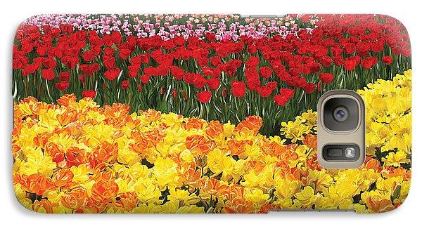 Galaxy Case featuring the digital art Tulip Field by Tim Gilliland