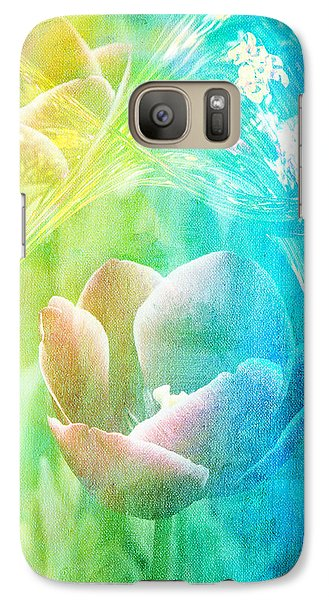 Galaxy Case featuring the photograph Tulip Garden by James Bethanis