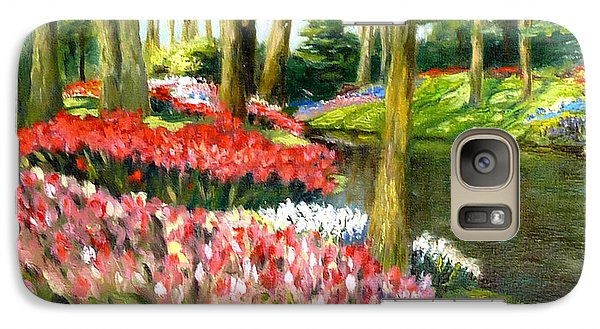 Galaxy Case featuring the painting Tulip Gardens by Lori Ippolito