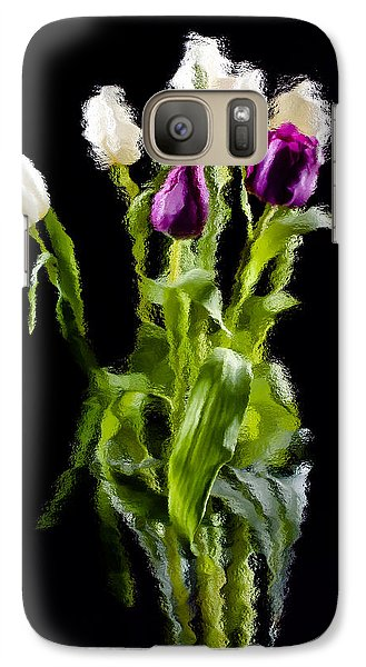 Galaxy Case featuring the photograph Tulip Impressions II by Penny Lisowski