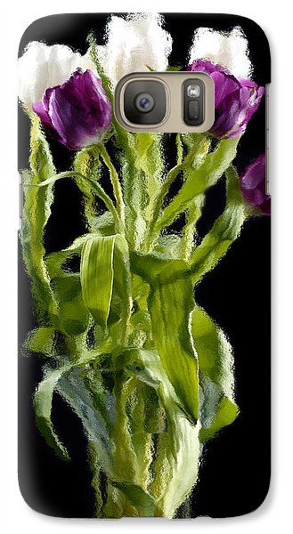 Galaxy Case featuring the photograph Tulip Impressions IIi by Penny Lisowski