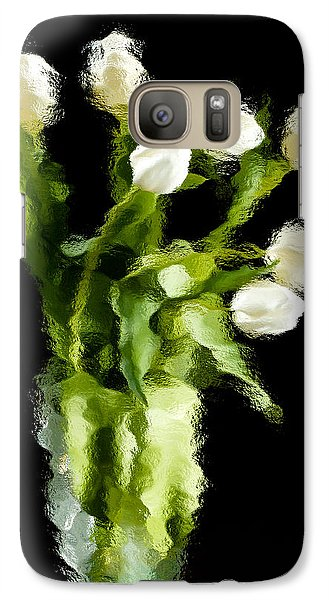 Galaxy Case featuring the photograph Tulip Impressions Vii by Penny Lisowski