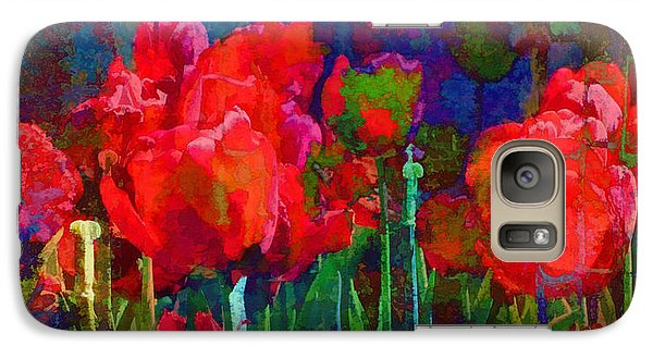 Galaxy Case featuring the photograph Tulip Jubilee by Kathleen Holley