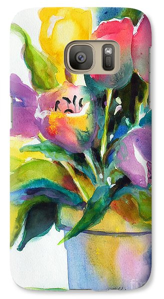 Galaxy Case featuring the painting Tulip Pot by Kathy Braud