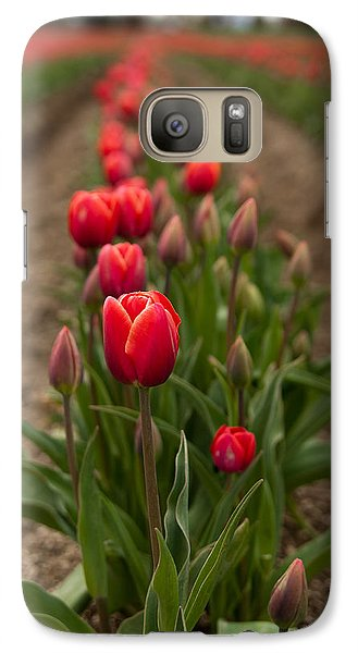 Galaxy Case featuring the photograph Tulip Row by Erin Kohlenberg