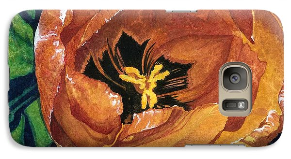 Galaxy Case featuring the painting Tulip Swirl by Barbara Jewell
