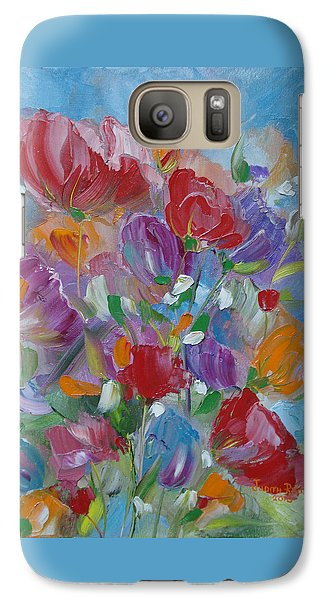 Galaxy Case featuring the painting Tulip Symphony by Judith Rhue