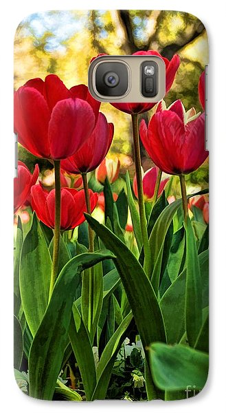 Tulip Time Galaxy S7 Case by Peggy Hughes