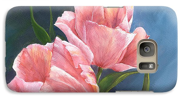 Galaxy Case featuring the painting Tulip Waltz by Sherry Shipley