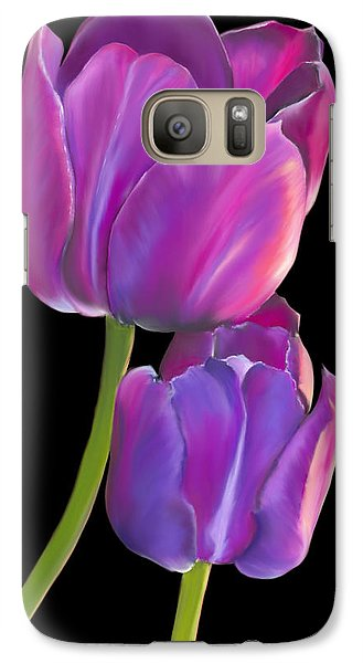 Galaxy Case featuring the painting Tulips 2 by Laura Bell