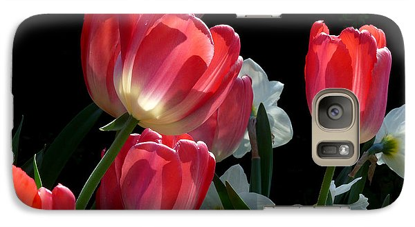 Galaxy Case featuring the photograph Tulips And Daffodils by Lucinda Walter
