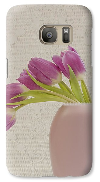 Galaxy Case featuring the photograph Tulips And Lace by Sandra Foster