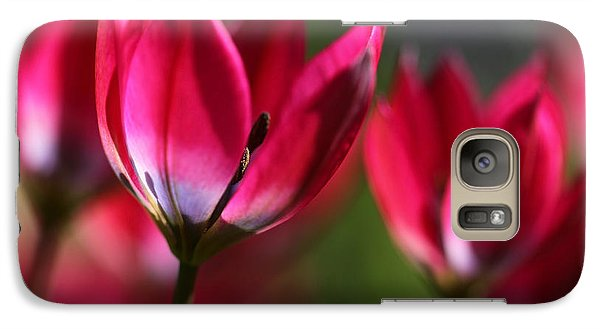 Galaxy Case featuring the photograph Tulips by Annie Snel