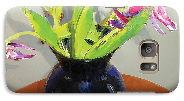 Galaxy Case featuring the digital art Tulips by David Klaboe