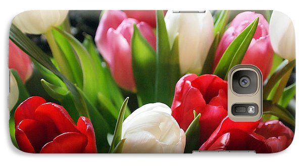 Galaxy Case featuring the photograph Tulips by Deborah Fay