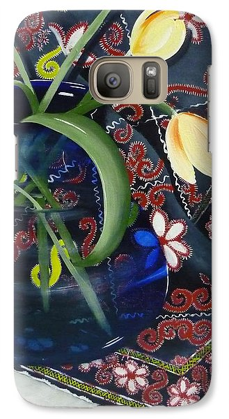 Galaxy Case featuring the painting Tulips by Helen Syron
