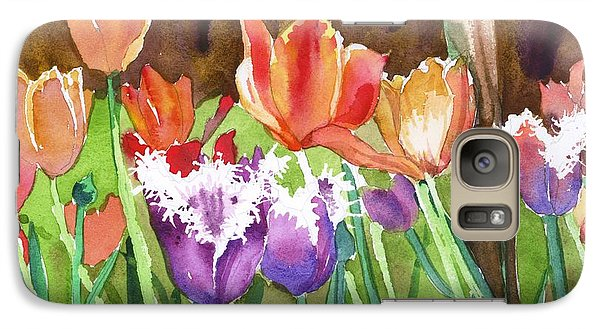 Galaxy Case featuring the painting Tulips In Spring by Yolanda Koh