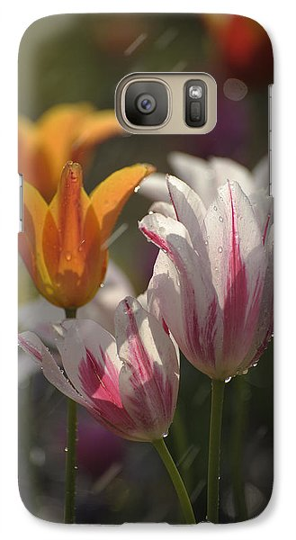 Galaxy Case featuring the photograph Tulips In The Rain by Phyllis Peterson