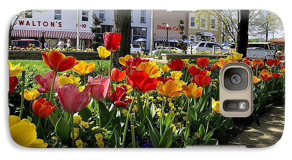 Galaxy Case featuring the photograph Tulips In The Spring by Nava Thompson