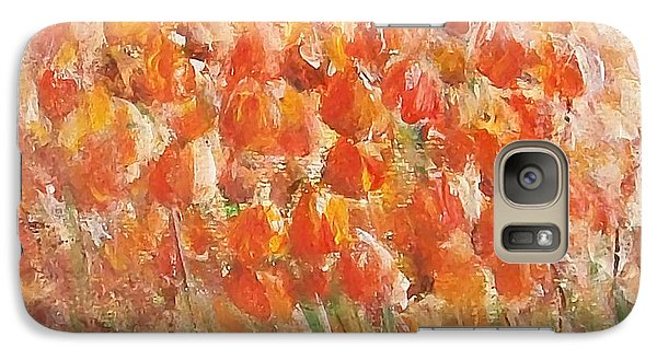 Galaxy Case featuring the painting Tulips by Jane  See
