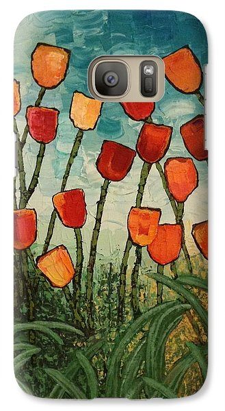 Galaxy Case featuring the painting Tulips by Linda Bailey