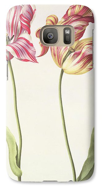 Tulips Galaxy Case by Nicolas Robert