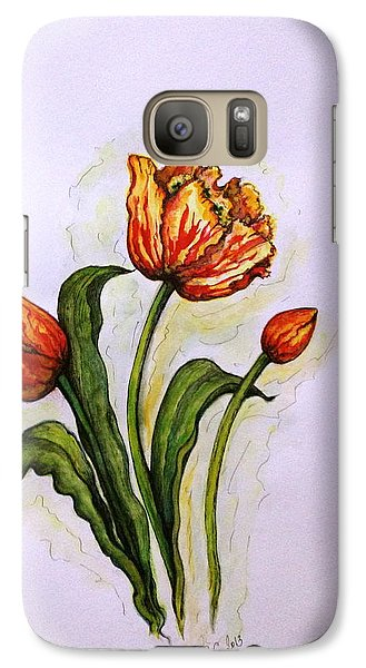 Galaxy Case featuring the painting Tulips by Rae Chichilnitsky