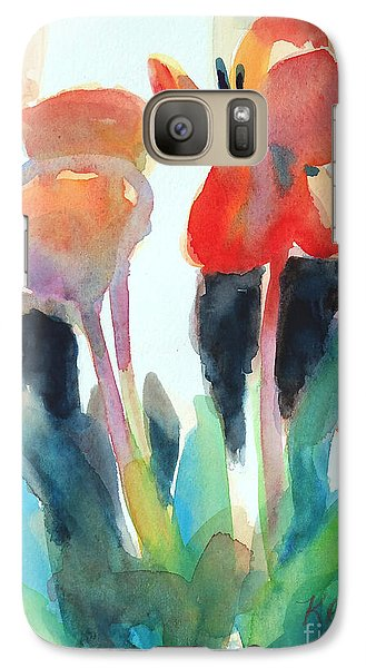 Galaxy Case featuring the painting Tulips Together by Kathy Braud