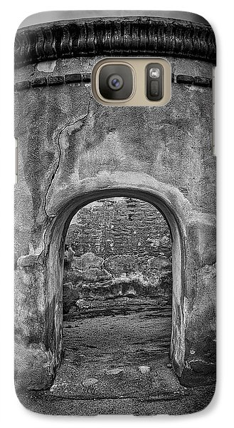 Galaxy Case featuring the photograph Tumacacori Mission Retreat ... by Chuck Caramella