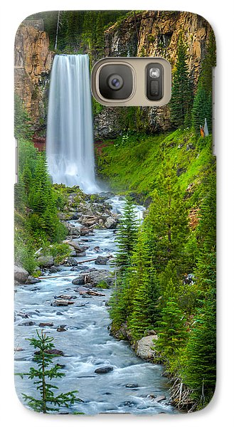 Galaxy Case featuring the photograph Tumalo Falls by Chris McKenna