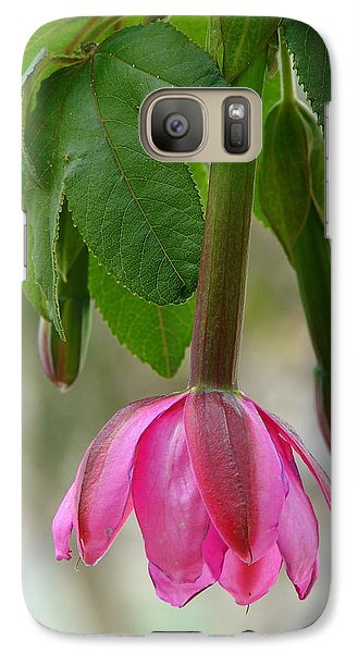 Galaxy Case featuring the photograph Tumbo Blossom by Lew Davis