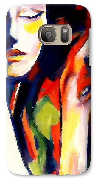 Galaxy Case featuring the painting Tuning by Helena Wierzbicki