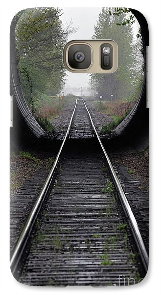 Galaxy Case featuring the photograph Tunnel Into The Mist  by Rod Wiens
